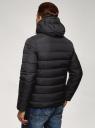 Куртка стеганая с капюшоном oodji #SECTION_NAME# (черный), 1B112027M/33743/2900N - вид 3