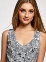 Платье трикотажное комбинированное oodji для женщины (синий), 14005124-1/42376/7912E