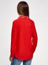Блузка с декором на воротнике oodji #SECTION_NAME# (красный), 11403172-3/31427/4500N - вид 3