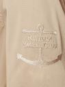 Рубашка с погонами и нагрудными карманами oodji #SECTION_NAME# (бежевый), 13L11015/26357/3300N - вид 5