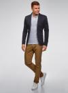 Пиджак из фактурной ткани с накладными карманами oodji #SECTION_NAME# (синий), 2L400164M/46265N/7900J - вид 6