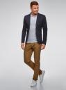Пиджак из фактурной ткани с накладными карманами oodji для мужчины (синий), 2L400164M/46265N/7900J