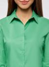 Рубашка базовая из хлопка oodji #SECTION_NAME# (зеленый), 11403227B/14885/6500N - вид 4