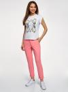 Брюки-чиносы хлопковые oodji для женщины (розовый), 11706207B/32887/4100N - вид 6