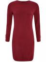 Платье базовое из вискозы с пуговицами на рукаве oodji #SECTION_NAME# (красный), 73912217-1B/33506/4900N