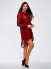 Платье шифоновое с асимметричным низом oodji #SECTION_NAME# (красный), 11913032/38375/4529A - вид 6