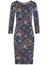 Платье трикотажное с вырезом-капелькой на спине oodji #SECTION_NAME# (черный), 24001070-5/15640/2945F