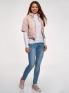Куртка стеганая принтованная oodji #SECTION_NAME# (розовый), 10207002-1/45419/4012F - вид 6
