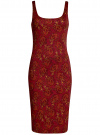 Платье-майка трикотажное oodji #SECTION_NAME# (красный), 14015007-3B/37809/4959E