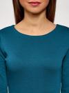 Платье базовое облегающего силуэта oodji #SECTION_NAME# (зеленый), 14011038B/38261/6C00N - вид 4