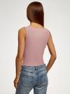 Топ из эластичной ткани на широких бретелях oodji #SECTION_NAME# (розовый), 24315002-3B/45297/4A01N - вид 3