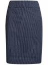 Юбка прямая жаккардовая oodji для женщины (синий), 21601236-13/46373/7912D