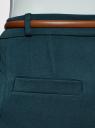 Брюки slim с отворотами oodji для женщины (зеленый), 11705016/22434/6C00N