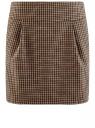 Юбка короткая с карманами oodji #SECTION_NAME# (бежевый), 11605056-2B/22124/3339C