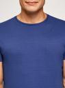 Футболка базовая прямого силуэта oodji #SECTION_NAME# (синий), 5B611003M/44135N/7500N - вид 4