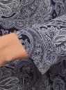 Платье принтованное из вискозы oodji для женщины (синий), 21900318-2/42127/7912E