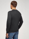 Свитшот хлопковый с круглым вырезом oodji для мужчины (черный), 5B123009M/48823N/2900N
