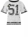 Трикотажная блузка oodji для женщины (белый), 11308089/42861/1029P