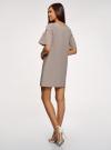 Платье из хлопка прямого силуэта oodji #SECTION_NAME# (коричневый), 11901159-1/47875/3710S - вид 3