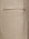 Жилет льняной длинный oodji для женщины (бежевый), 22300101B/16009/3300N