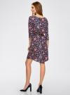 Платье вискозное с рукавом 3/4 oodji #SECTION_NAME# (синий), 11901153-1B/42540/7945F - вид 3