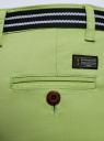 Шорты хлопковые с ремнем oodji для женщины (зеленый), 12807089/48153/6B00N