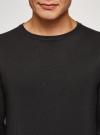 Джемпер базовый с круглым воротом oodji #SECTION_NAME# (черный), 4B112011M/49683N/2900N - вид 4