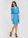 Платье вискозное с ремнем oodji #SECTION_NAME# (синий), 11900180B/42540/7510Q - вид 6
