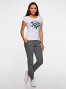 Комплект трикотажных брюк (2 пары) oodji #SECTION_NAME# (серый), 16700030-15T2/47906/2500M - вид 6