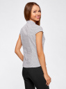 Рубашка с коротким рукавом из хлопка oodji #SECTION_NAME# (белый), 11403196-3/26357/1079G - вид 3