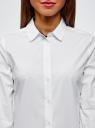 Блузка хлопковая с рукавом 3/4 oodji #SECTION_NAME# (белый), 13K03005B/26357/1000B - вид 4