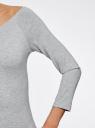 Платье с вырезом-лодочкой (комплект из 2 штук) oodji #SECTION_NAME# (серый), 14017001T2/47420/2000M - вид 5