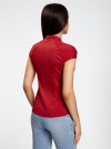 Рубашка с коротким рукавом из хлопка oodji #SECTION_NAME# (красный), 11403196-1/18193/4500N - вид 3