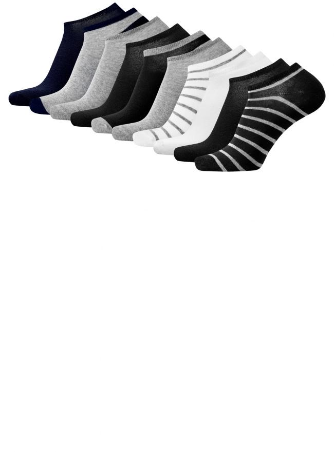 Комплект из десяти пар носков oodji для мужчины (разноцветный), 7B201000T10/47469/1901O