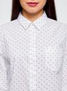 Рубашка базовая из хлопка oodji #SECTION_NAME# (белый), 13K03007B/26357/1029G - вид 4