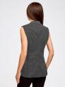 Жилет классический из фактурной ткани oodji для женщины (черный), 12300099-6/46373/2991D