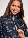 Куртка стеганая принтованная oodji #SECTION_NAME# (черный), 10207002-1/45419/2970F - вид 4