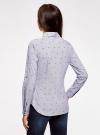 Рубашка принтованная с контрастной отделкой oodji #SECTION_NAME# (белый), 11403222-1/45202/1079O - вид 3