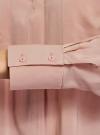 Блузка вискозная с нагрудными карманами oodji #SECTION_NAME# (розовый), 11411201/24681/4B00N - вид 5
