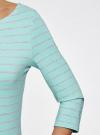 Платье трикотажное базовое oodji для женщины (бирюзовый), 14001071-2B/46148/7320S - вид 5