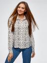 Блузка базовая из вискозы oodji для женщины (белый), 11411136B/26346/1229O