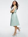 Платье с поясом без рукавов oodji #SECTION_NAME# (зеленый), 12C13008-1/46683/6512S - вид 6