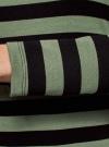 Платье базовое принтованное oodji #SECTION_NAME# (зеленый), 14011038-2B/37809/6629S - вид 5