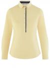 Рубашка приталенная с нагрудными карманами oodji #SECTION_NAME# (желтый), 11403222-3/42468/5000N