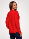 Блузка вискозная прямого силуэта oodji #SECTION_NAME# (красный), 21400394-1B/24681/4502N - вид 3