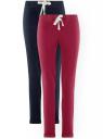 Комплект спортивных брюк (2 пары) oodji #SECTION_NAME# (синий), 16701010T2/46980/7949N