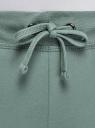 Брюки трикотажные на завязках oodji для женщины (зеленый), 16701042-5/46151/6C00P