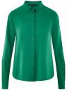 Блузка базовая из вискозы oodji #SECTION_NAME# (зеленый), 11411136B/26346/6E01N