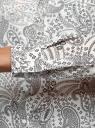Блузка прямого силуэта с нагрудным карманом oodji для женщины (белый), 11411134-1B/48853/1229E
