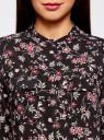 Блузка вискозная с регулировкой длины рукава oodji #SECTION_NAME# (черный), 11403225-2B/26346/2923F - вид 4